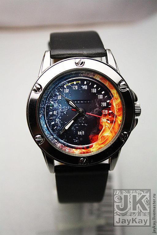 """Часы ручной работы. Ярмарка Мастеров - ручная работа. Купить Наручные часы JK """"Спидометр"""". Handmade. Наручные часы в подарок"""