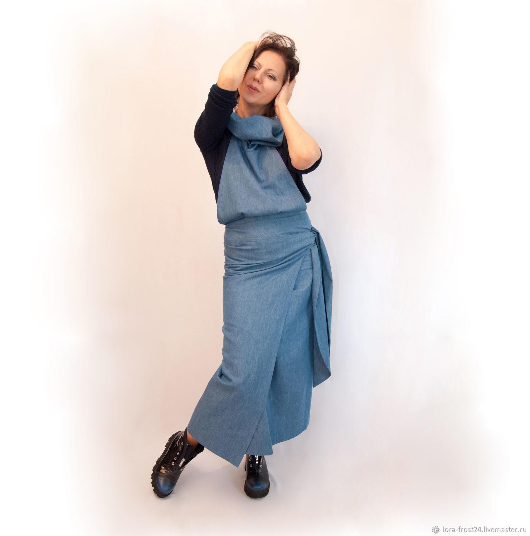 2839d534f31 Платья ручной работы. Ярмарка Мастеров - ручная работа. Купить САРАФАН  джинс. Handmade.