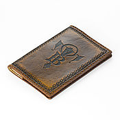 Канцелярские товары handmade. Livemaster - original item Cover with your monogram in Gothic style. Handmade.