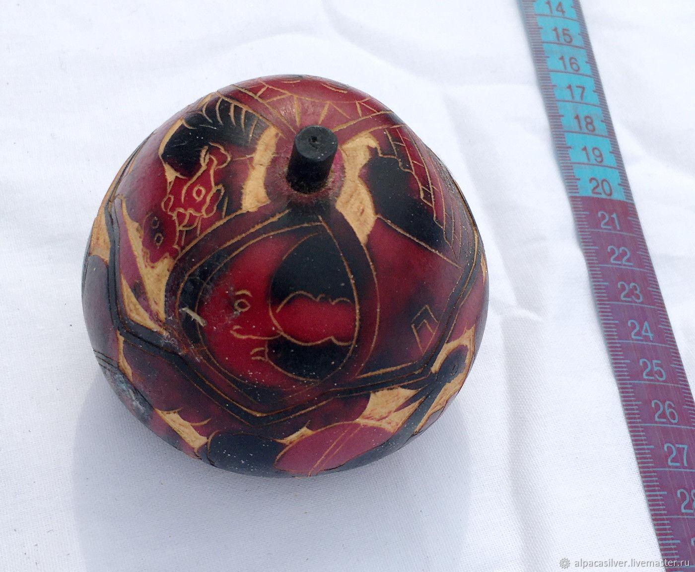 Декоративная чаша из высушенной тыквы, Вазы, Геленджик,  Фото №1