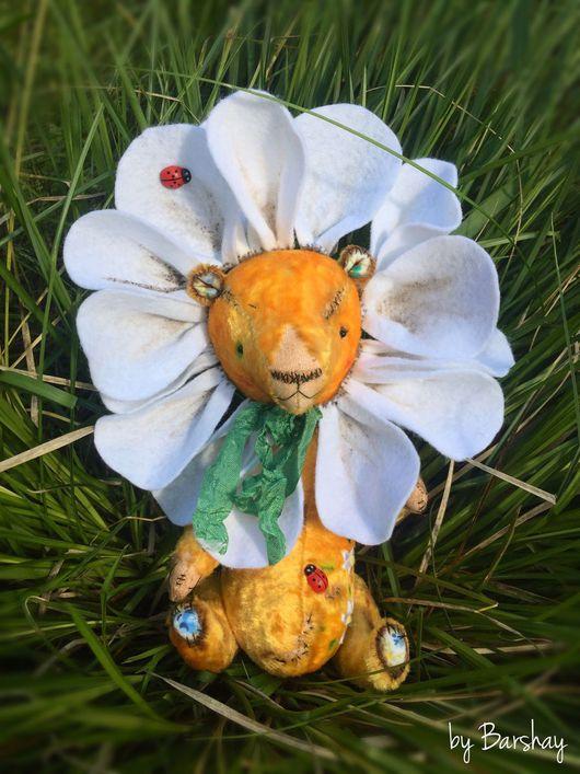 """Мишки Тедди ручной работы. Ярмарка Мастеров - ручная работа. Купить Мишка тедди """"Ромашкин"""" желтый плюшевый мишка. Мягкая игрушка, кукла. Handmade."""