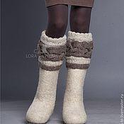 """Обувь ручной работы. Ярмарка Мастеров - ручная работа """"Classic"""" светлые с коричневой косой. Handmade."""