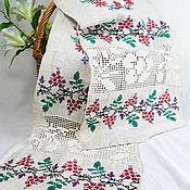 Русский стиль handmade. Livemaster - original item Vintage towel Embroidered homespun towel Hemp towel. Handmade.