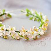 Украшения handmade. Livemaster - original item Wedding wreath with flowers orange. Handmade.