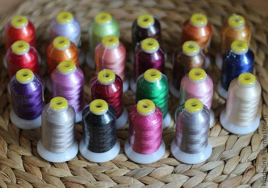Вышивка ручной работы. Ярмарка Мастеров - ручная работа. Купить Нижняя нить для машинной вышивки. Handmade. Нижняя нить, Нитки