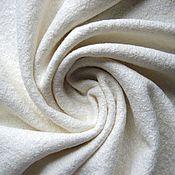 Ткани ручной работы. Ярмарка Мастеров - ручная работа Ткань шерсть Лоден Белый Молочный. Handmade.