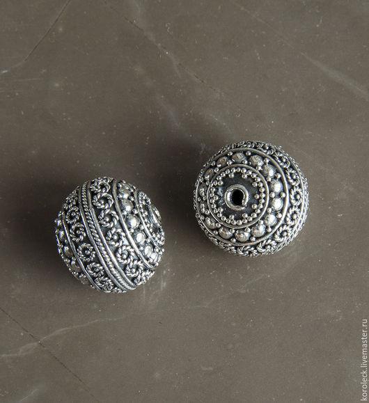 Для украшений ручной работы. Ярмарка Мастеров - ручная работа. Купить Бусина серебряная Исфахан ручной работы. Handmade. Серебряный