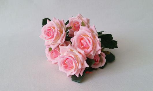 Материалы для флористики ручной работы. Ярмарка Мастеров - ручная работа. Купить Куст розы Б92, 3 оттенка. Handmade.