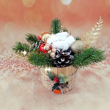 Souvenirs and gifts handmade. Livemaster - original item Winter composition (option 2). Handmade.