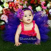 Работы для детей, ручной работы. Ярмарка Мастеров - ручная работа Юбка пачка из фатина для девочки  Фиолет. Handmade.
