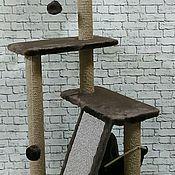 Когтеточки ручной работы. Ярмарка Мастеров - ручная работа Когтеточка для кошек Мамба на столбах. Handmade.
