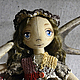 Куклы тыквоголовки ручной работы. Ярмарка Мастеров - ручная работа. Купить Фаня. Handmade. Коричневый, тыквоголовая кукла, синтепух