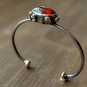 Украшения handmade. Livemaster - original item Bracelet silver with natural stones. Handmade.