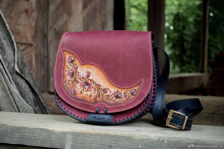 8319d26f8bad Женские сумки ручной работы. Ярмарка Мастеров - ручная работа. Купить Сумка  кожаная женская фиолетовая ...