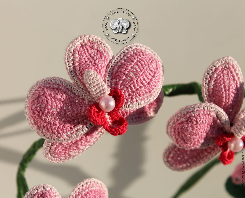 Орхидея связанная крючком схема фото 194