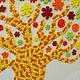 Картины цветов ручной работы. Ярмарка Мастеров - ручная работа. Купить Картина цветочное дерево из пуговиц. Handmade. Картина, лето