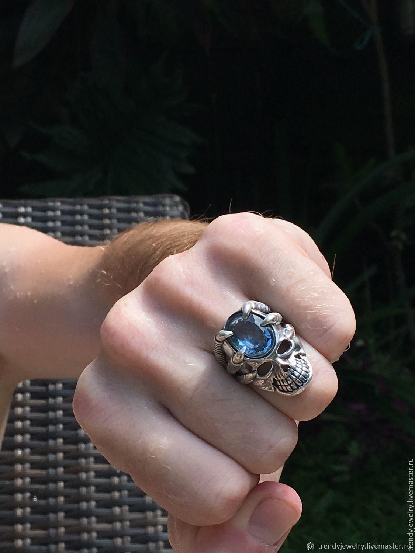 Перстень из серебра - голубой топаз – заказать на Ярмарке Мастеров – CPKEHRU | Перстень, Москва