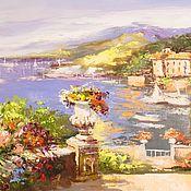 Картина маслом Средиземноморье, размер 50х80см