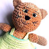Мягкие игрушки ручной работы. Ярмарка Мастеров - ручная работа Кошка в платье. Handmade.