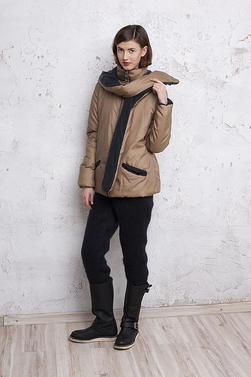 Верхняя одежда ручной работы. Ярмарка Мастеров - ручная работа. Купить эксклюзив! зимняя куртка полностью из шелка. Handmade. Однотонный