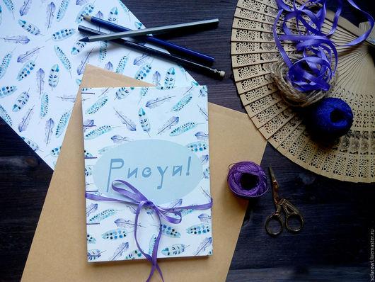 Блокноты ручной работы. Ярмарка Мастеров - ручная работа. Купить Скетчбуки ручной работы. Handmade. Розовый, блокнот для рисования