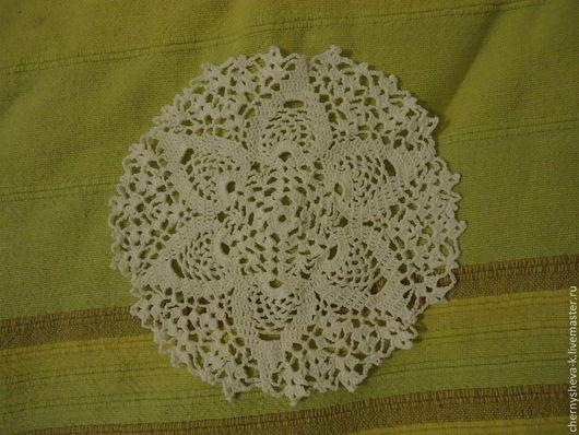 Текстиль, ковры ручной работы. Ярмарка Мастеров - ручная работа. Купить Салфетка маленькая1. Handmade. Белый, крючком, салфетка крючком