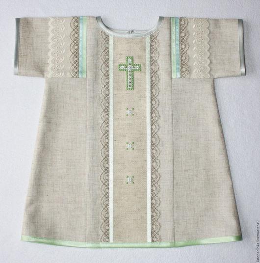 `Троица` - крестильное платье. Лён с вискозой. Февраль 2014.