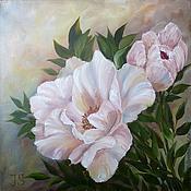 """Картины и панно ручной работы. Ярмарка Мастеров - ручная работа Готовая картина """"Белые цветы II"""". Handmade."""