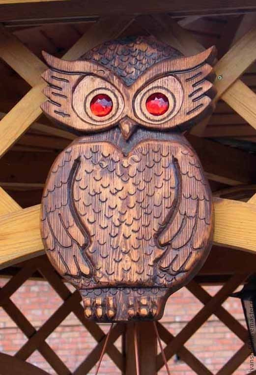 Экстерьер и дача ручной работы. Ярмарка Мастеров - ручная работа. Купить Сова декоративная деревянная. Handmade. Птица, символ мудрости