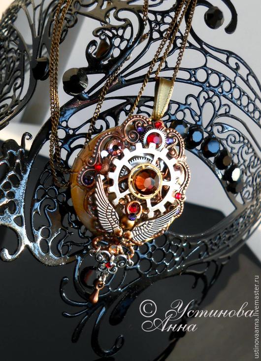 Стимпанк ручной работы. Ярмарка Мастеров - ручная работа. Купить Стимпанк кулон, медальон, кулон в стиле стимпанк/ Steampunk. Handmade.