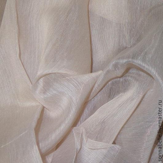 Шитье ручной работы. Ярмарка Мастеров - ручная работа. Купить Ткань тюлевая Батист Беж с оттенком пыльная роза (пудра). Handmade.