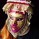 """Интерьерные  маски ручной работы. Ярмарка Мастеров - ручная работа. Купить Маска """"СОЛОМЕЯ. Венецианская дама"""" (SOLOMIA). Handmade. Фуксия"""