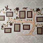 Элементы интерьера ручной работы. Ярмарка Мастеров - ручная работа Семейное дерево с фоторамками. Handmade.