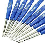 Крючки для вязания набор 10 шт 0,6 мм - 2 мм
