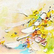 Картины и панно ручной работы. Ярмарка Мастеров - ручная работа Триптих Fiore di primavera - картины на холсте. Handmade.