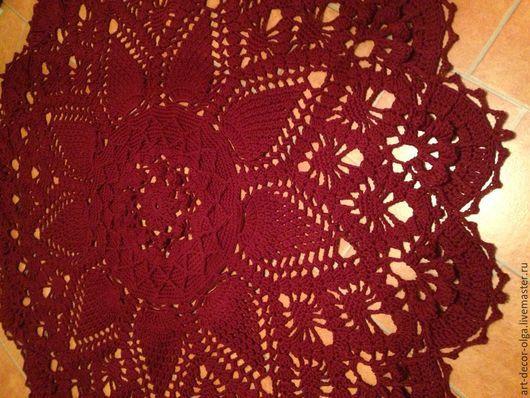 Текстиль, ковры ручной работы. Ярмарка Мастеров - ручная работа. Купить изысканный ковер ручной работы. Handmade. Бордовый