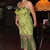 Одежда ручной работы. Ярмарка Мастеров - ручная работа Платье крючком Счастье когда я рядом. Handmade.