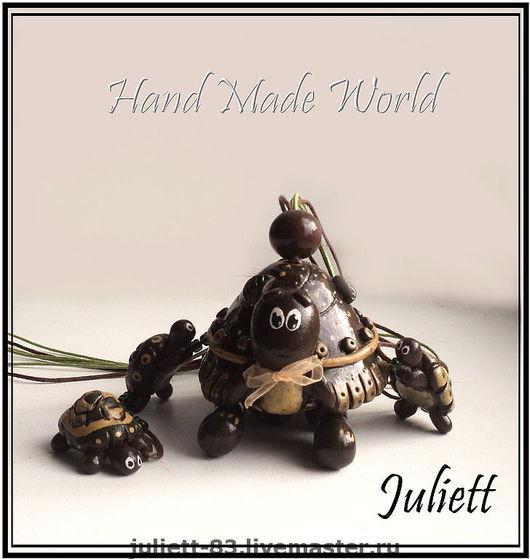 """Колокольчики ручной работы. Ярмарка Мастеров - ручная работа. Купить Колокольчик """"Черепашки"""". Handmade. Черепашка, черепахи, сувениры и подарки"""