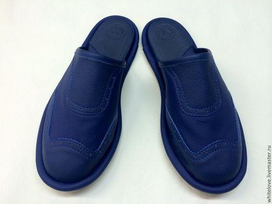 """Обувь ручной работы. Ярмарка Мастеров - ручная работа. Купить Тапочки кожаные """"Хазарские""""- big.. Handmade. Тапочки для дома"""