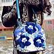 """Женские сумки ручной работы. Ярмарка Мастеров - ручная работа. Купить Сумка """"Синий иней"""" ( в комплекте берет и брошь). Handmade."""