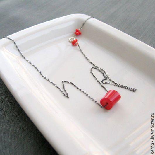 """Кулоны, подвески ручной работы. Ярмарка Мастеров - ручная работа. Купить Камень на цепочке """"Coral nugget"""". Handmade. На каждый день"""