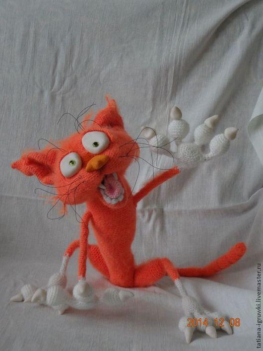Игрушки животные, ручной работы. Ярмарка Мастеров - ручная работа. Купить рыжий кот аристарх. Handmade. Рыжий, подарок2017