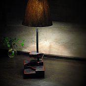 Для дома и интерьера ручной работы. Ярмарка Мастеров - ручная работа Настольный светильник  Спил. Handmade.