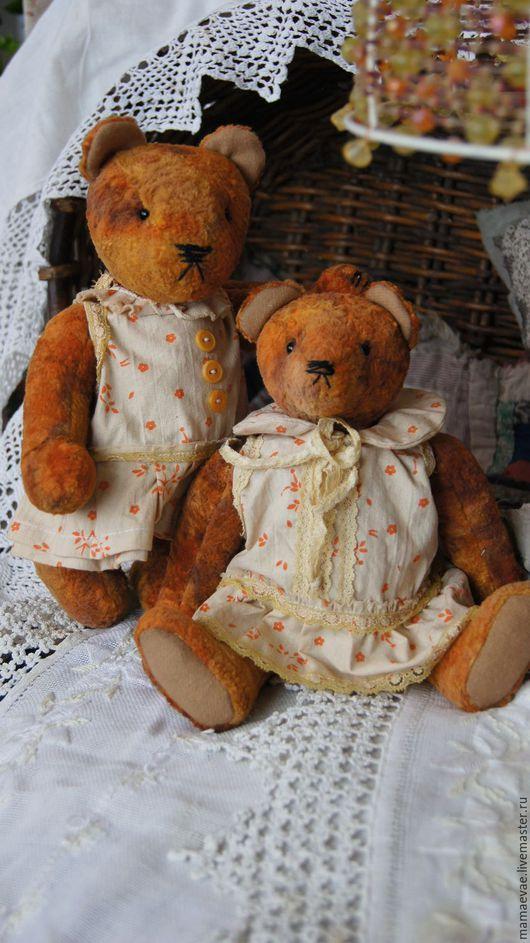 Мишки Тедди ручной работы. Ярмарка Мастеров - ручная работа. Купить Девчонки. Handmade. Оранжевый, игрушка ручной работы