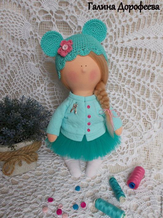 Человечки ручной работы. Ярмарка Мастеров - ручная работа. Купить Кукла в стиле Минни. Handmade. Тёмно-бирюзовый, интерьерная кукла
