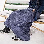"""Одежда ручной работы. Ярмарка Мастеров - ручная работа Теплая юбка на флисе из плащевки """"Джинс """". Handmade."""