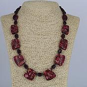 Украшения handmade. Livemaster - original item Necklace from natural stones - variscite garnet