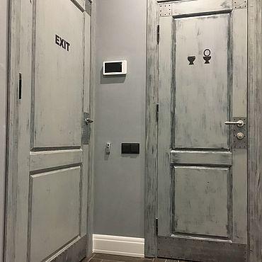 Для дома и интерьера ручной работы. Ярмарка Мастеров - ручная работа Дверь в стиле лофт №1. Handmade.