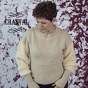"""Одежда ручной работы. Ярмарка Мастеров - ручная работа Пуловер, свитер  женский вязаный из мериноса 100%  """"Lis"""". Handmade."""