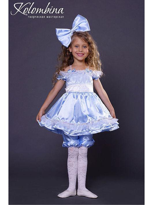 Детские карнавальные костюмы ручной работы. Ярмарка Мастеров - ручная работа. Купить карнавальный костюм Мальвины, куклы. Handmade. Голубой